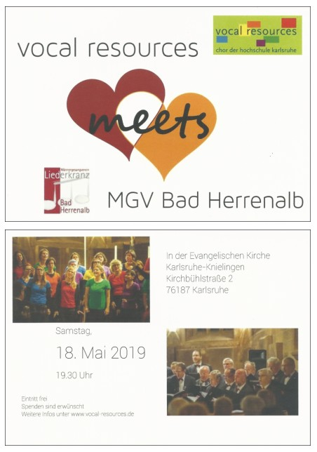 vocal resources meets MGV Bad Herrenalb